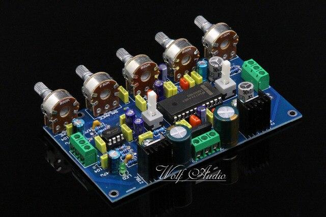 새로운 어셈블리 lm4610 + ne5532 프리 앰프 lm4610 음색 제어 보드 (loudness switchable diy 포함)