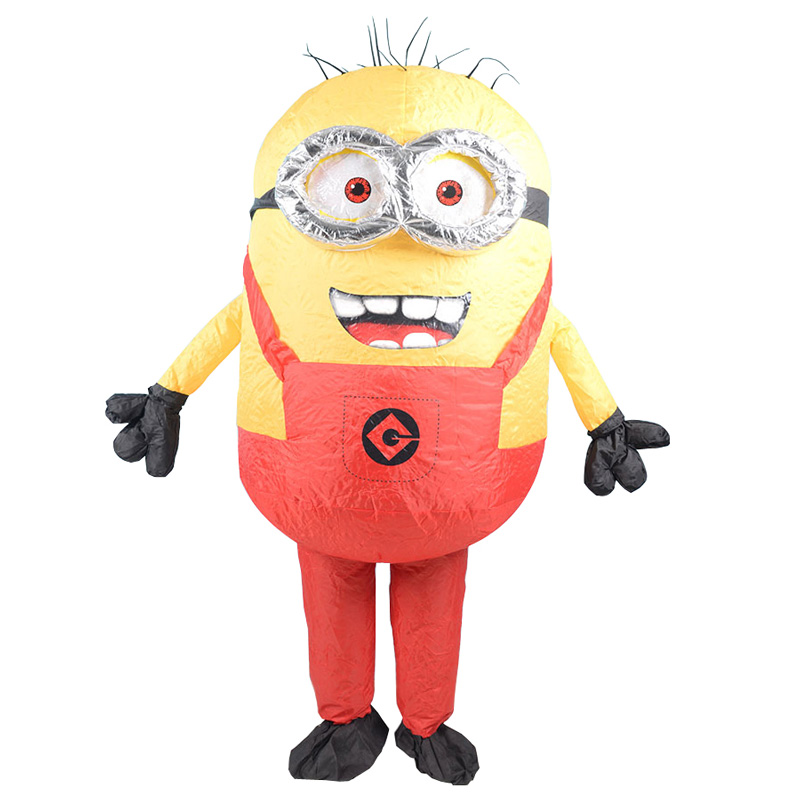 Men Women Inflatable Minion Costume Halloween Party Costumes Despicable Me Mascot Costume Minion Cosplay Clothing for Carnival