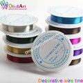 OlingArt 0,3 мм 20 м/рулон проволоки линии микс разноцветных покрытых бисером ремесла DIY аксессуары колье ожерелье ювелирных изделий