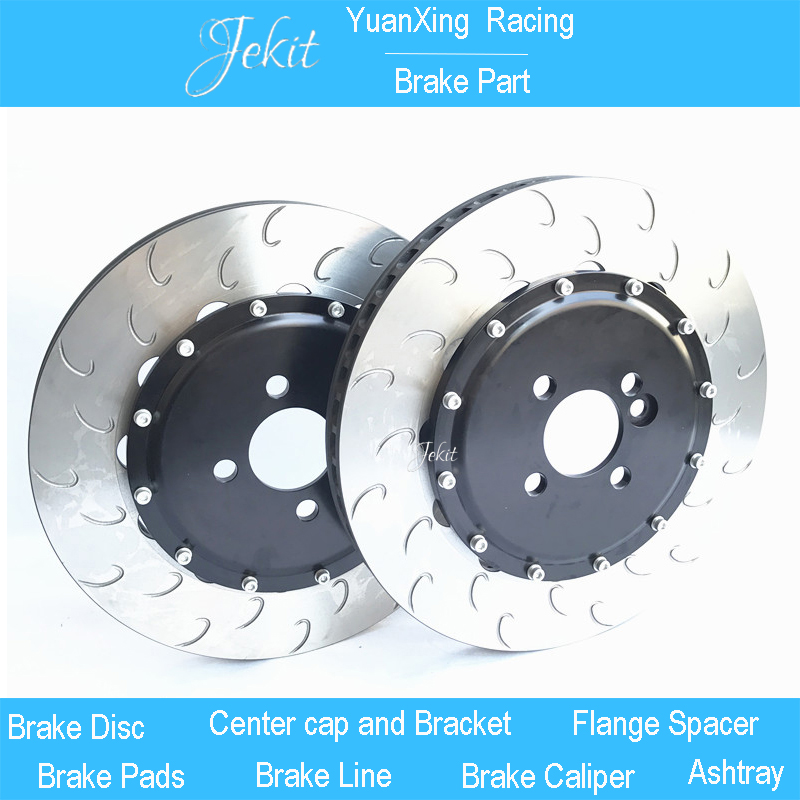 Jekit Brake disc with center bell screws 4x100 PCD 330*28mm J hook rotors for Renault Clio front for rim 17'' car wheel