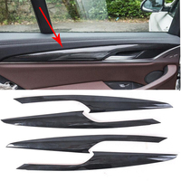 Car styling ABS Inner Carbon Door Armrest Stripe Cover Trim 4PCS For BMW X3 G01 2018
