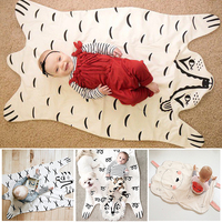 113 68cm New Arrival Fashion Baby Blanket Game Mat Cotton Cute Animals Baby Blanket Suitable For