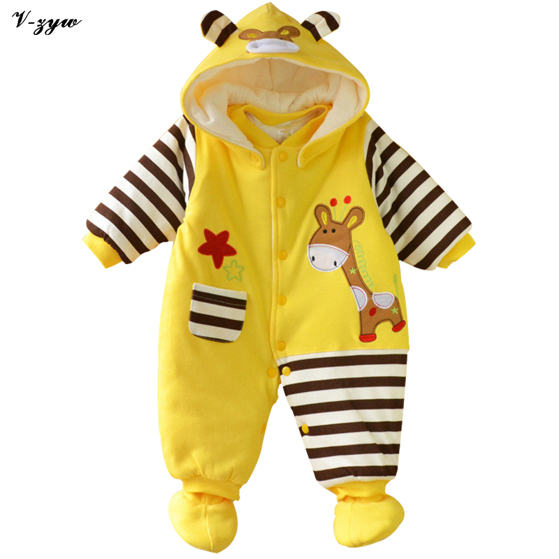 New Baby Rompers 2016 Fashion Brand Ropa De Bebe Long Sleeve Cotton Baby Costume Thicken Winter Romper Newborn Baby Jumpsuit warm thicken baby rompers winter long sleeve organic cotton autumn