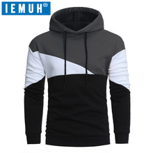 IEMUH 2017 autumn new men's sweaters hedging fashion collar color round neck Hooded sweater casual standard of sweaters