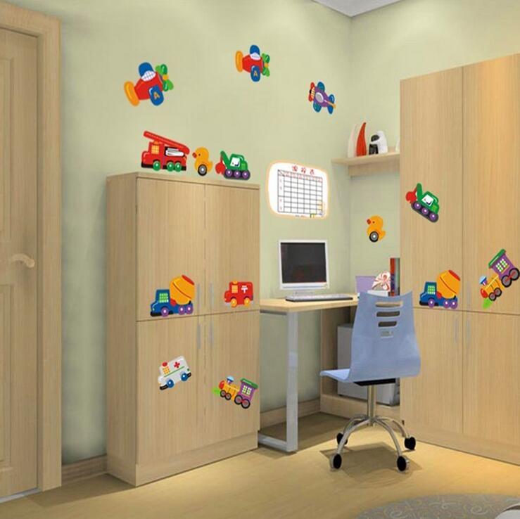 car plane nios pegatinas de pared para nios dormitorio de dibujos animados muchacho del cartel decoracin muebles