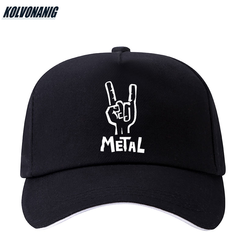 KOLVONANIG Black Caps Baseball-Cap Snapback Rock Electric-Guitar Heavy-Metal Women Sun-Hats