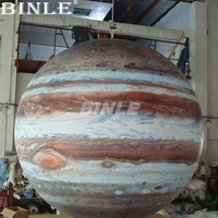 Stage decorative giant inflatable Jupiter balloon inflatable planet globe for events
