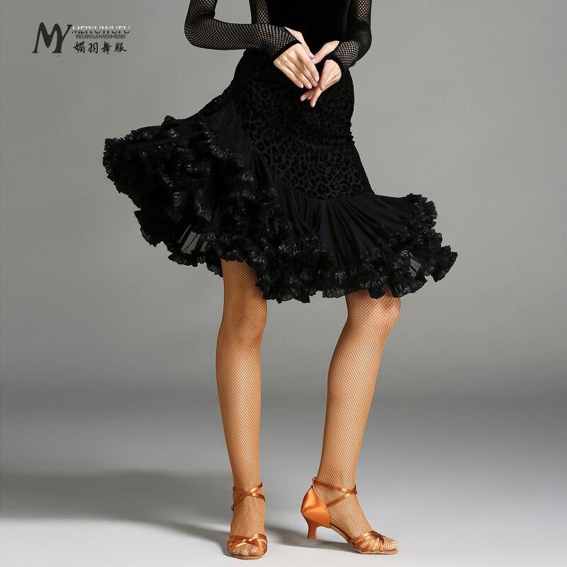 2017 Latin Dance Dress Ballroom Dress Latin Fringe High Grade!!2018 New Dance Costumes Womens Tango Rumba Cha Samba Skirt My741