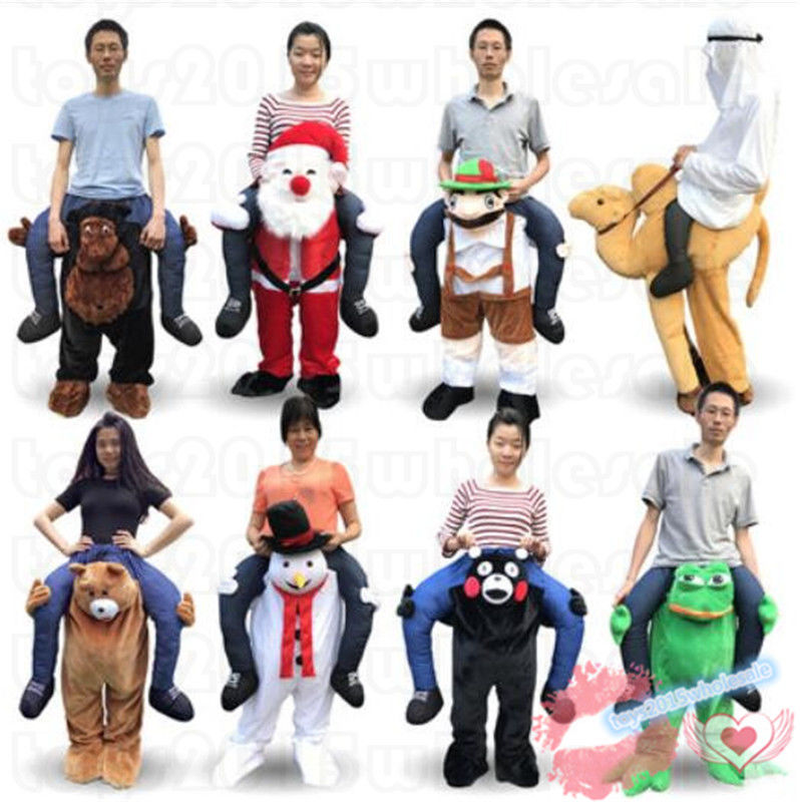 Shoulder Carry Ride On Me Mascot Costume Suits Cosplay Party Game Dress Outfits Clothing Advertising Carnival Halloween  Adults
