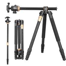 Q999H горизонтальный штатив профессиональный видео DSLR камера штатив монопод Комплект 61 дюймов портативный компактный подходит для путешествий Canon Nikon sony