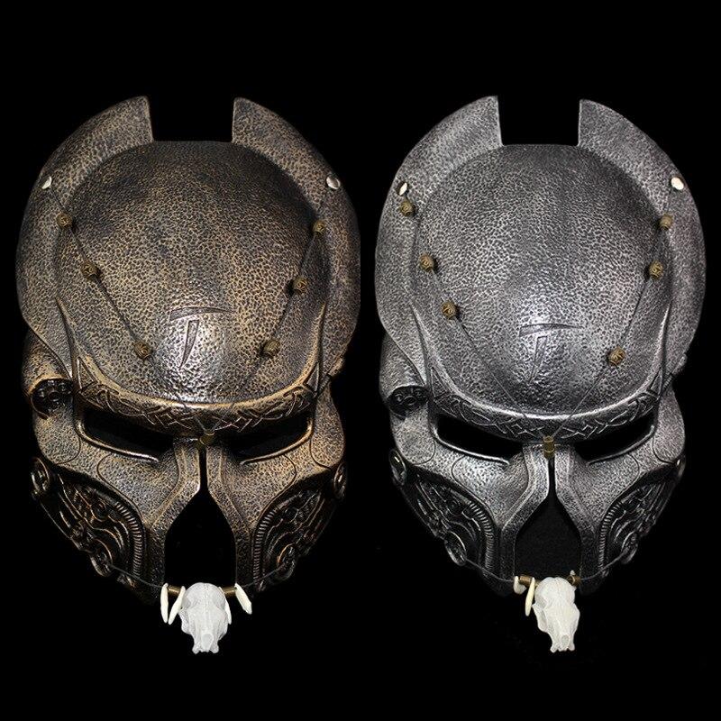 Résine brun prédateur masque aigle masque Mascara terreur film masques fête mascarade fantaisie Costume Cosplay Halloween noël cadeau