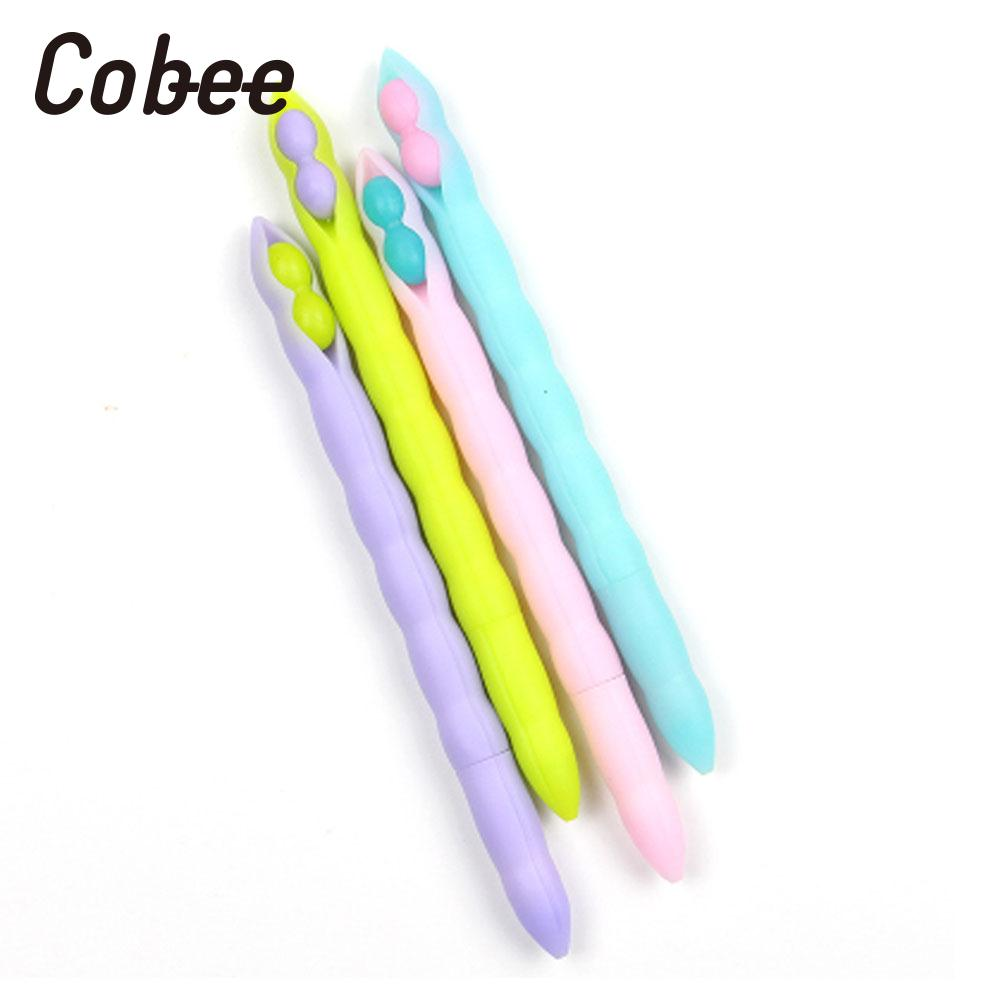 Writing Gel-Ink Pen Ballpoint Gel Pens Roller Ball Pen Lentil Kids Useful School Stationery Office Durable Gel Pens