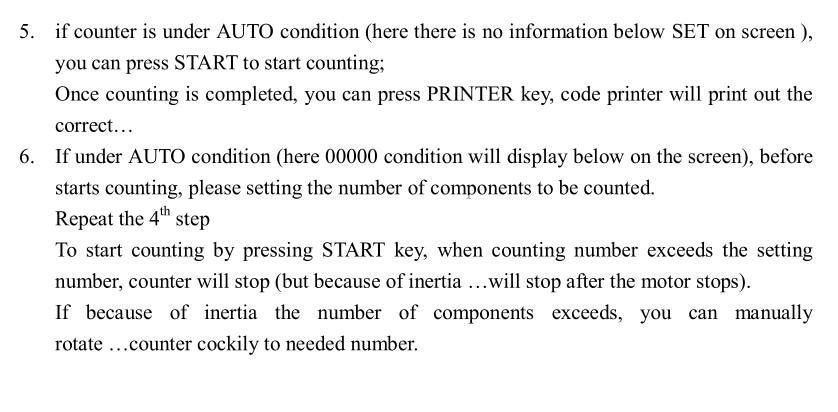 smd parte contadores de contagem dos componentes