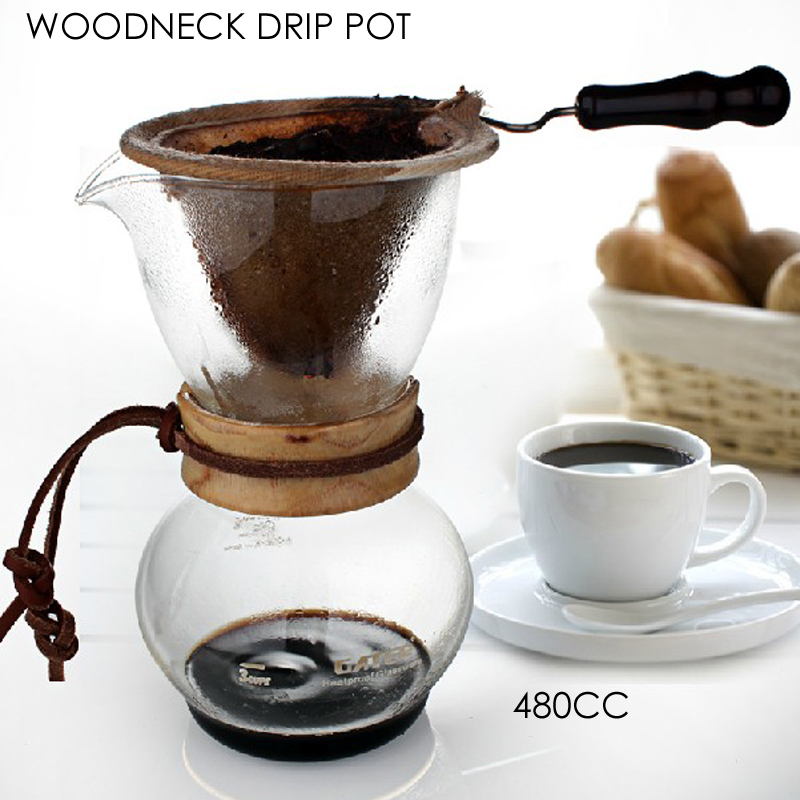 NEW ARRIVAL FREE SHIPPING Woodneck Coffee Chemex Brewer 480CC 3 4cups Chemex coffee Maker