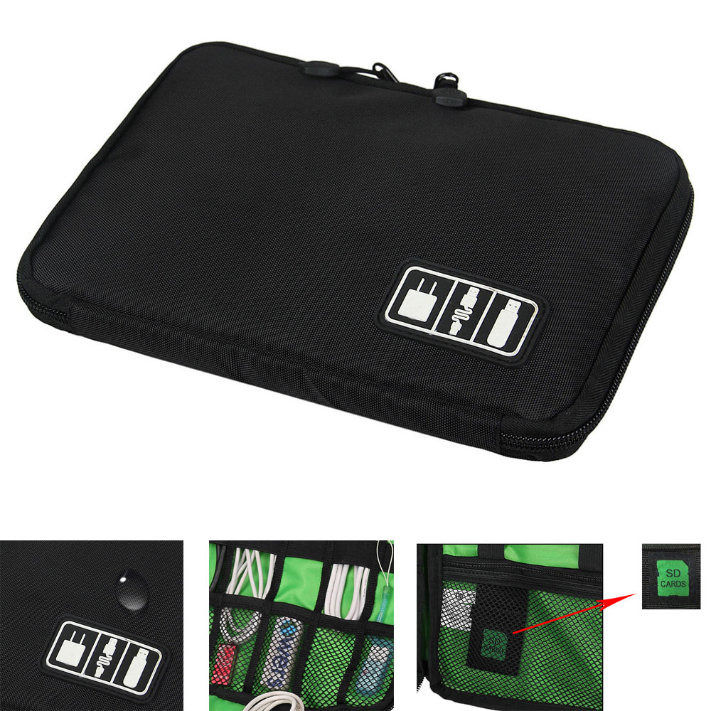 Electronic Accessories Cable USB Drive Organizer Bag Portable Travel Case Storage New