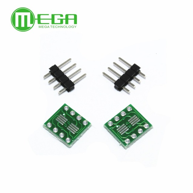 20 piezas SOP8 turn DIP8 / SOIC8 a DIP8 adaptador de circuito integrado Socket PB FREE con Pin Header