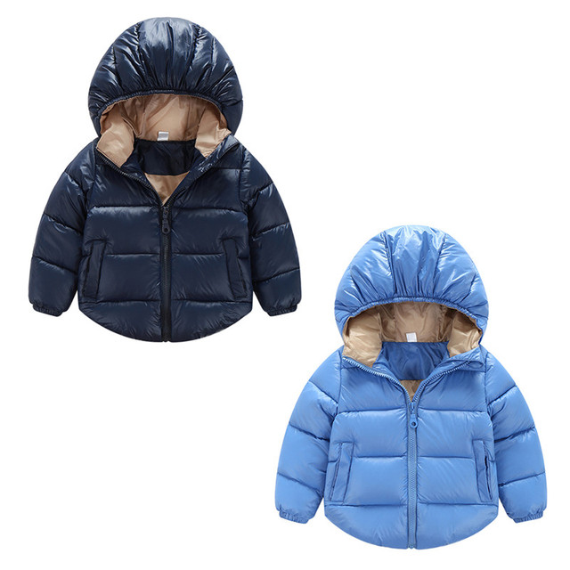 9a0801632a4a4 New Hooded Coat Thickened Down Jacket Kids Clothes Toddler Baby Boys Girls  Outerwear Winter Puffer Cotton-padded Coat