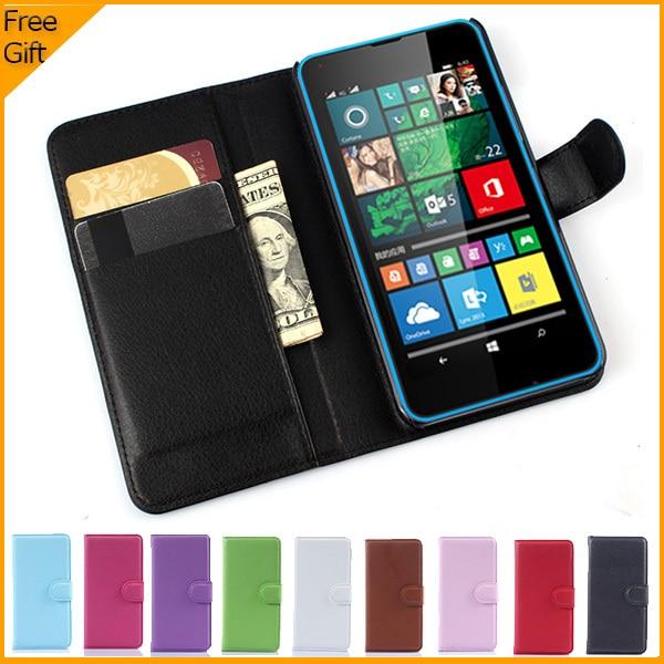 Luxusní peněženka kožené flip pouzdro pro Microsoft Lumia 640 - Příslušenství a náhradní díly pro mobilní telefony