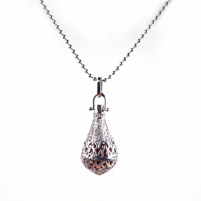 20 16 milímetros grânulos de prata banhado a mulheres grávidas de cor colar de pingente de jóias da moda longo parágrafo Ding Dong Ding Dong Lol