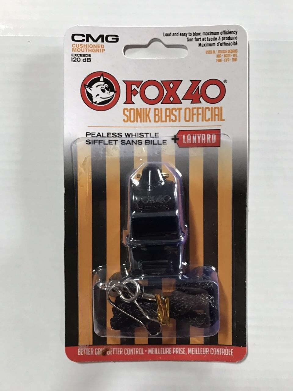 48 משרוקית SONIC Fox 40 צבעונית יח ' חבילה עם שופר CMG ושרוך באריזה שלפוחית חדשה
