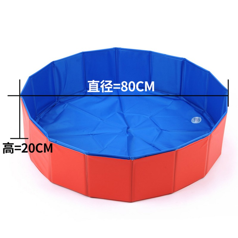 Portable Product For Dog Fuloon PVC Foldable Dog Cats Wash Bathing Tub 80*20cm Pet Swimming Pool