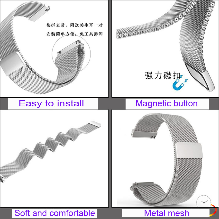 Image 5 - 22mm Bracelet Band For Huawei GT Honor Magic Dream Watch Strap For Xiaomi Amazfit GTR 47mm Pace Stratos WristBand For Samsung S3-in Smart Accessories from Consumer Electronics