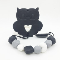 Owl Silicone Pacifier Clips High Quality DIY Fashion Jewelry Silicone Teething Beads Owl Teether Baby Toys
