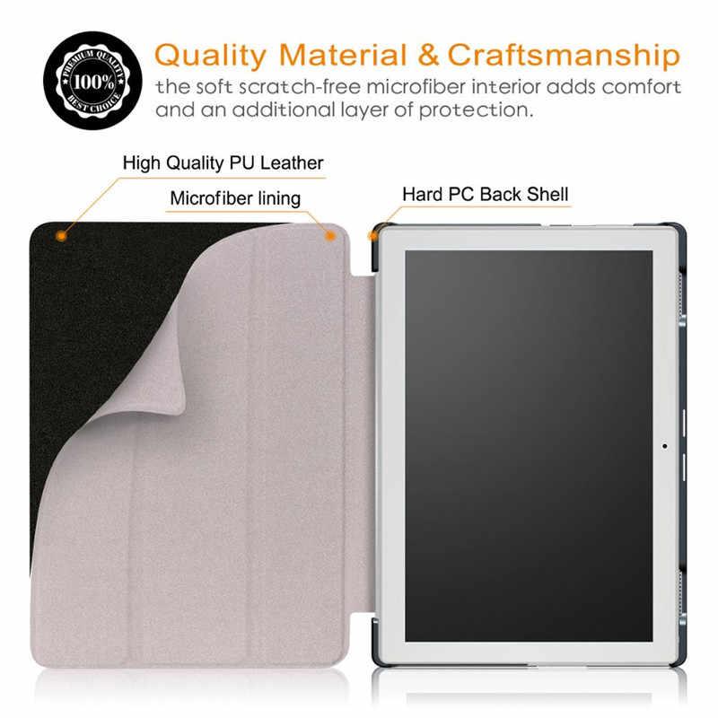 PU deri akıllı kılıf için Lenovo Tab 4 10 TB-X304L TB-X304F/N Tablet koruyucu standı kapak lenovo tab 4 10 inç + Film + Stylus