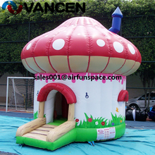 Newest pink inflatable princess bouncy castle PVC 4.5*5m mushroom jump house CE certification inflatable bouncer castle for kids tarpaulin inflatable bouncy castle bouncer for children party indoor
