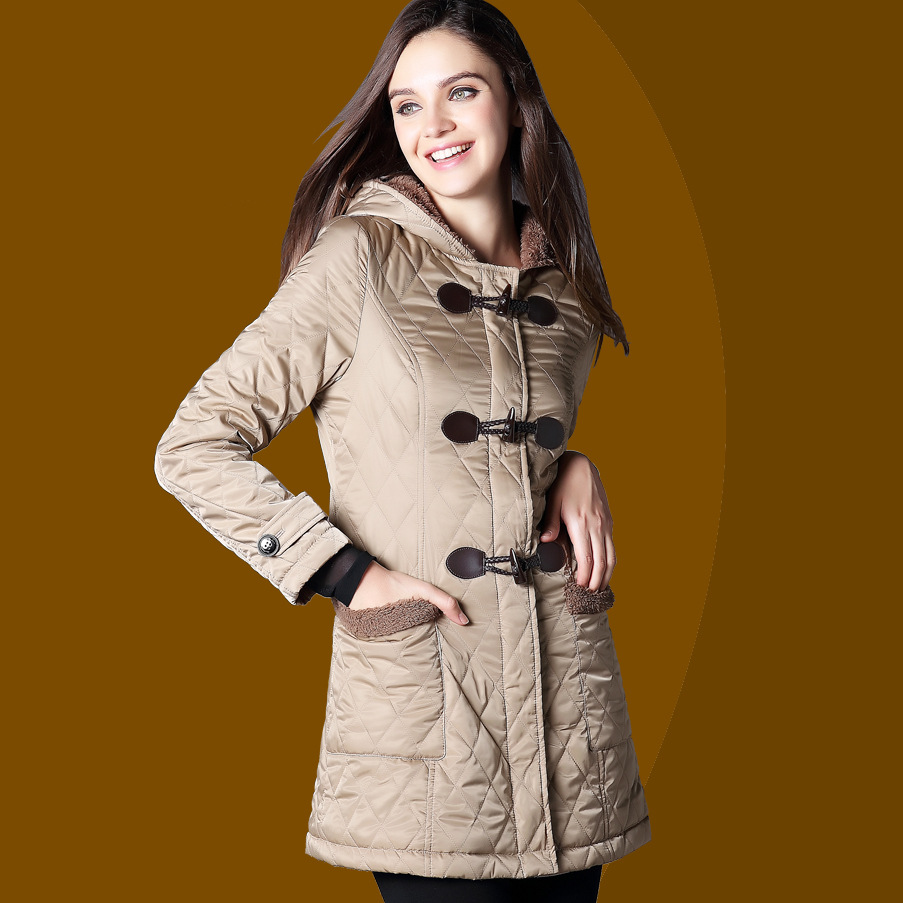 BURDULLY 2018 European And American Casual Regular Jacket Oblique New Winter Light Womens   Parka   Coat