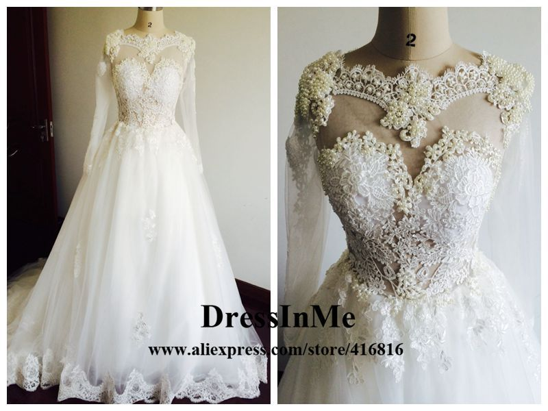 Lace and Pearl Wedding Gowns – fashion dresses