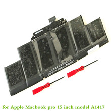 Laptop battery for Apple Macbook pro 15 inch model A1417