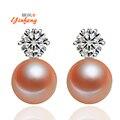 Clásicos de Ley 925 Aretes de Plata Pendientes de Perlas de Alta Calidad de La Joyería de Alta Calidad de Joyería Fina para Las Mujeres