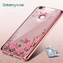 Plating Bumper Flower Clear Bling Diamond Case For Xiaomi Redmi Mi 6 Mi5 Mi5S Mi5C 3 3S 4 4A Note 5A Pro 5X Mi6 5 5S Plus 5C 4X
