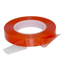 2/3mm 50M Double Sided Tape Strong Acrylic Glue Red Film Clear Sticker for Mobile Phone LCD Pannel Display Screen Repair 57mm width 50m 3m 9448 double sided tape for tablet phone repair led lcd touch screen display housing case black