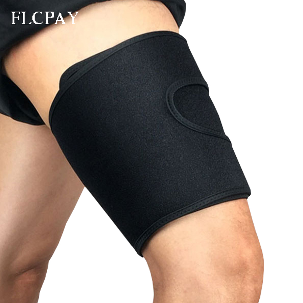 1 Pcs Thigh Support Brace Silicone Anti-slip Strips Men Women Hamstring Compression Wrap Pulled Injury Strain Tendonitis Rehab