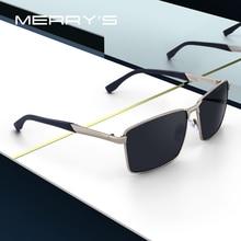 MERRYS DESIGN ผู้ชาย CLASSIC Rectangle แว่นตากันแดด HD Polarized Sun แว่นตาสำหรับขับรถ TR90 ขา UV400 ป้องกัน S8380