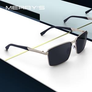 Image 1 - MERRYS デザイン男性クラシック長方形サングラス HD 用の偏光サングラス駆動 TR90 脚 UV400 保護 S8380