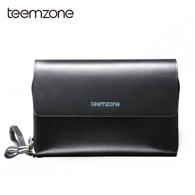Teemzone Top Quality leather long wallet men clutch purse zipper around wallets men women money bag pocket multifunction S3348 bvp luxury brand weave plain top grain cowhide leather designer daily men long wallets purse money organizer j50