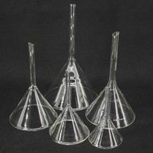 40 мм/50 мм/60 мм/75 мм/80 мм/90 мм/100 мм/120 мм миниатюрная лабораторная Стеклянная Воронка из боросиликатного стекла треугольная воронка