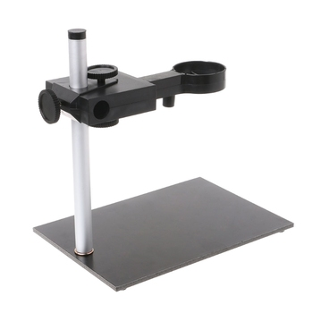 Aluminum Alloy Microscope Stand Portable Up and Down Adjustable Manual Focus Digital USB Electronic Microscope Holder Stand metal industrial microscope camera boom stand microscope stand dual arm rotatable boom stand adjustable table stand holder