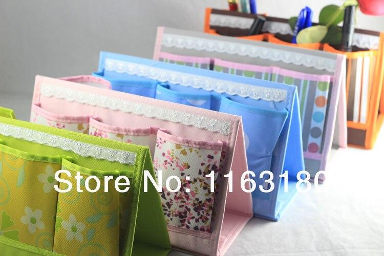 1PC/lot Multicellular Folding Desk Storage Box Tabletop Makeup Mobile Phone Container Organizer Bag Case Frame Pencil vase