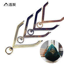 Купить с кэшбэком HAOFA 11CM 4pcs Metal Purse Frame Smooth Bag  Clutch Frame DIY Sewing  Happy House High Quality Kiss Clasp Purse Frame Bag Parts