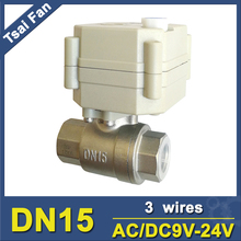 TF15-S2-B NPT/BSP 1/2'' Motor Operated Valve with Manual Override DN15 Stainless Steel AC/DC9-24V 3 Wires CE 1.0Mpa