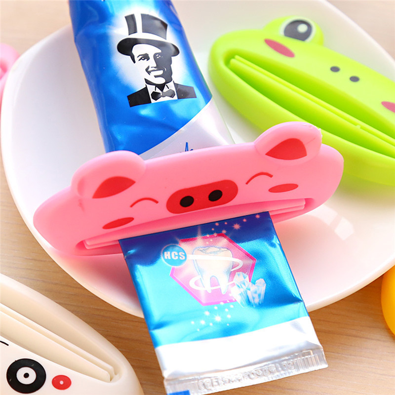 Bathroom Sets decoration Accessories Tube Squeezer Easy Cartoon Toothpaste Dispenser Rolling Holder toothbrush holder kitchen(China)