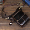 Men First layer Geunine Leather Real Drop Leg Pack Fanny Waist Belt Hip Oil Wax Cowhide Motorcycle Riding Messenger Shoulder Bag