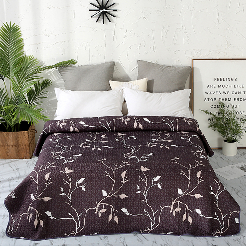 New Solid Black Print Bedspread Summer Quilt Blanket Comforter Bed Cover Quilting Home Textiles Suitable For Children Adult #sw