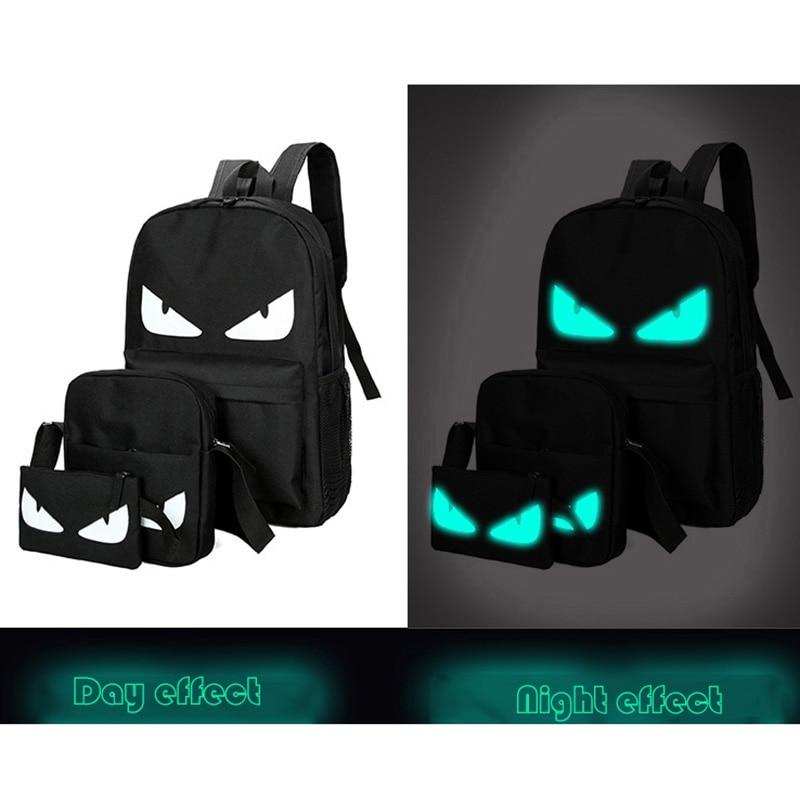 Senkey style Men Backpack Fashion Travel Noctilucent Male Anime Schoolbag For Teenage Girls Boy Popular Computer