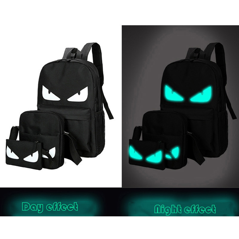 Senkey style Men font b Backpack b font Fashion Travel Noctilucent Male Anime Schoolbag For Teenage