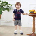 Casual Summer Toddler Boy Clothing Bow Tie T-shirt with Pants Short Print Kids Clothes Set